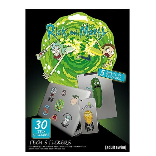 Rick and Morty Portal Adventures Tech Stickers Set Gadget Decals